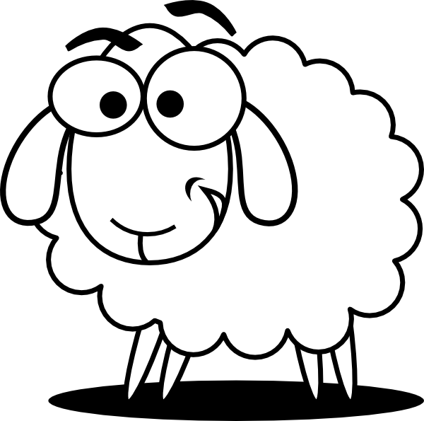 Sheep clipart confused #3