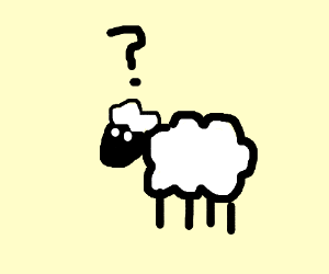 Sheep clipart confused #6