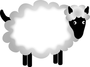 Sheep clipart mother and baby #8