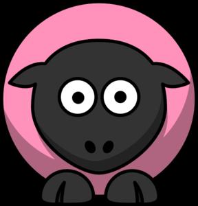 Sheep clipart pink sheep #3