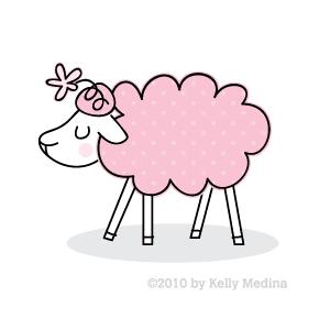 Sheep clipart pink sheep #4