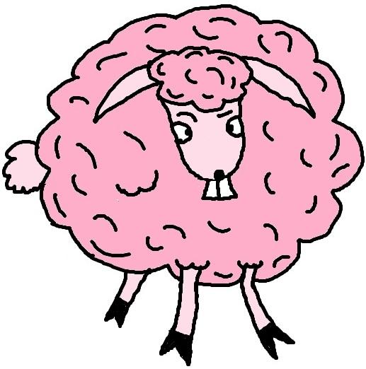 Sheep clipart pink sheep #5