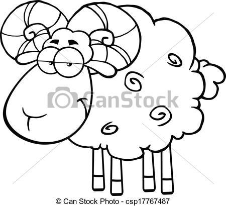 Sheep clipart ram #7
