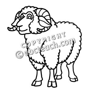 Sheep clipart ram #13