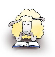 Sheep clipart reading #15