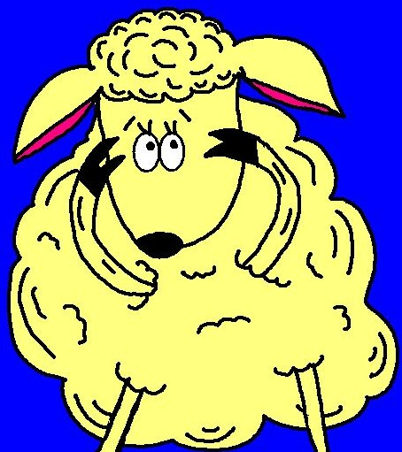 Sheep clipart scared #6