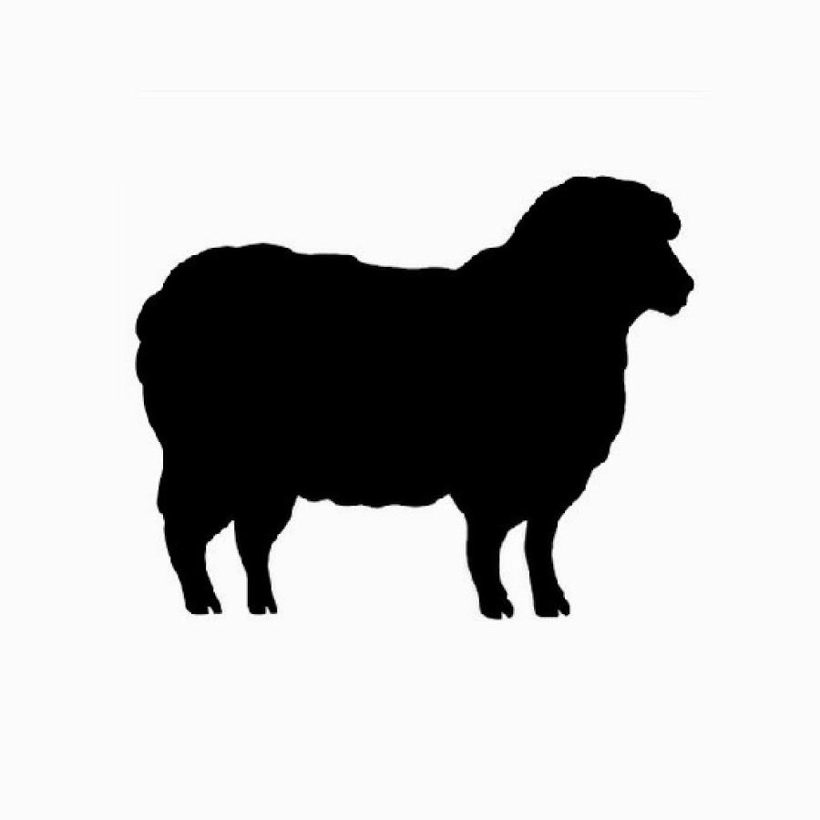 Sheep clipart shadow #9