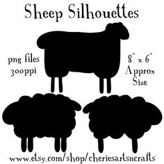 Sheep clipart shadow #11