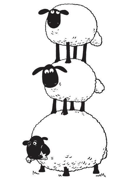 Drawn sheep shaun the sheep The Pinterest Sheep Coloring page