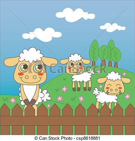 Sheep clipart sheep grazing #7