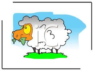 Sheep clipart sheep grazing #4