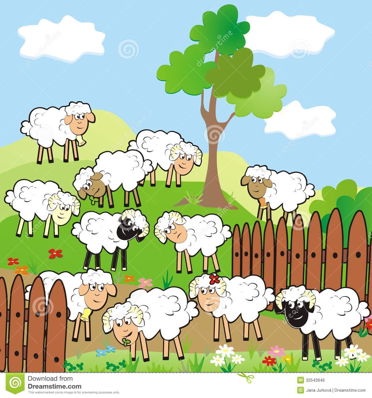 Sheep clipart sheep grazing #1
