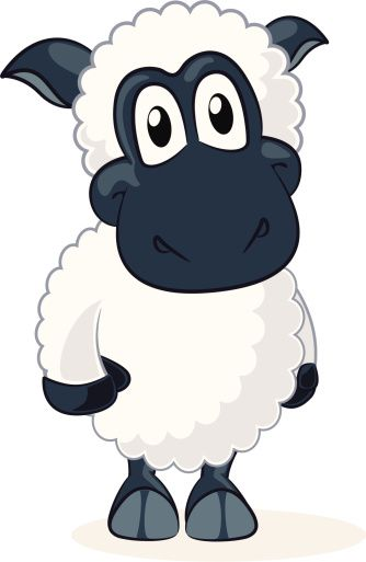 Sheep clipart tired #9