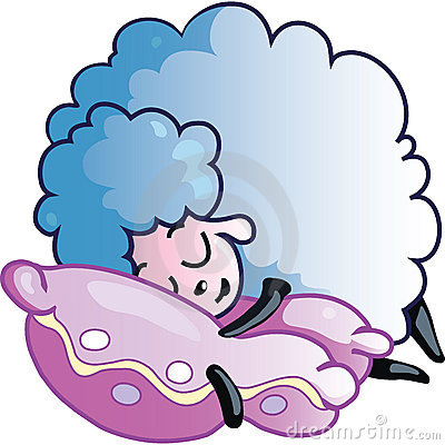Sheep clipart tired #7