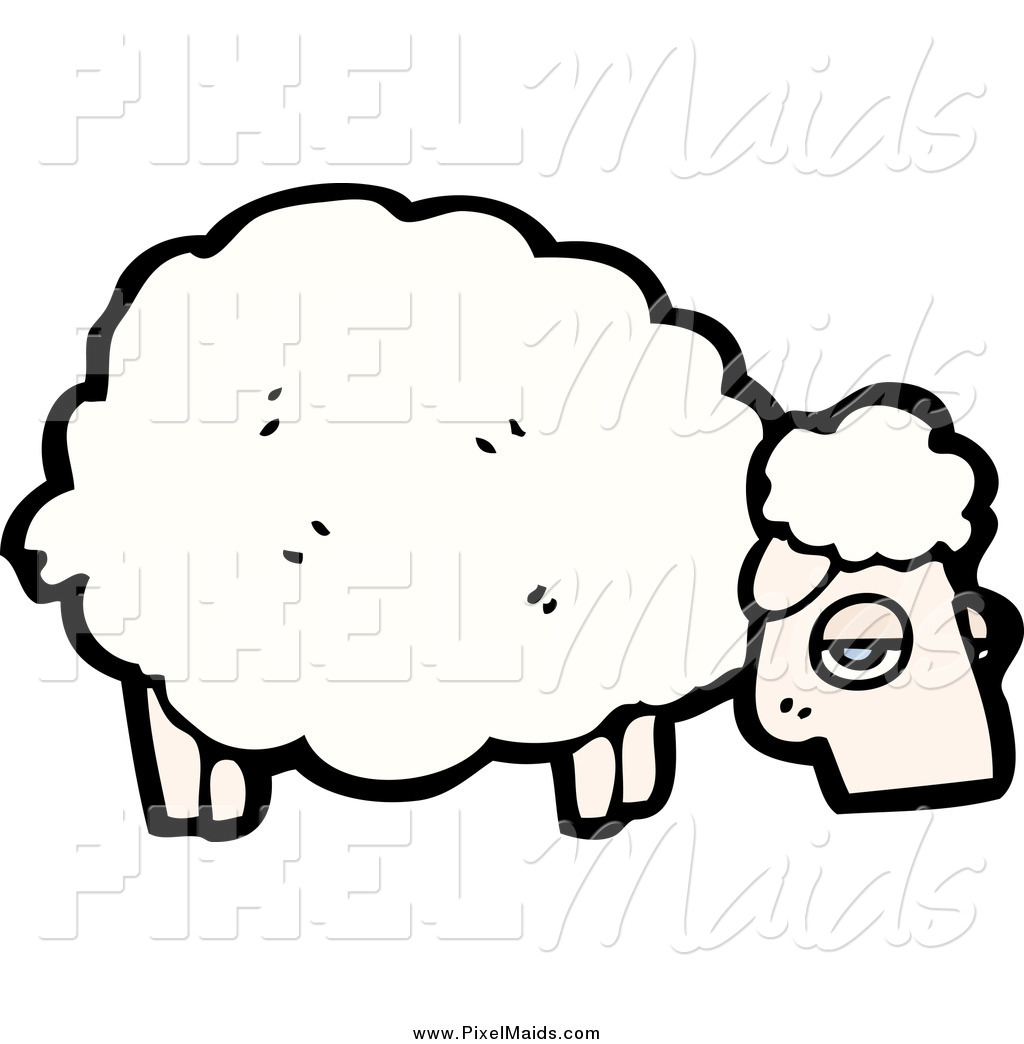 Sheep clipart tired #6