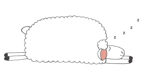 Sheep clipart tired #4