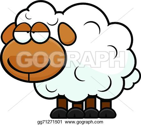 Sheep clipart tired #2