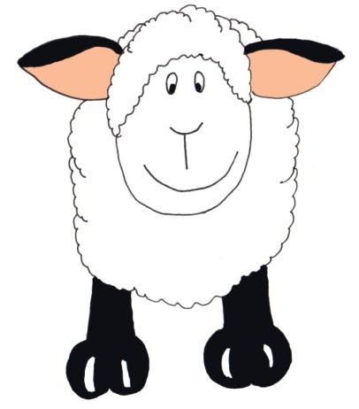 Sheep clipart transparent background #12