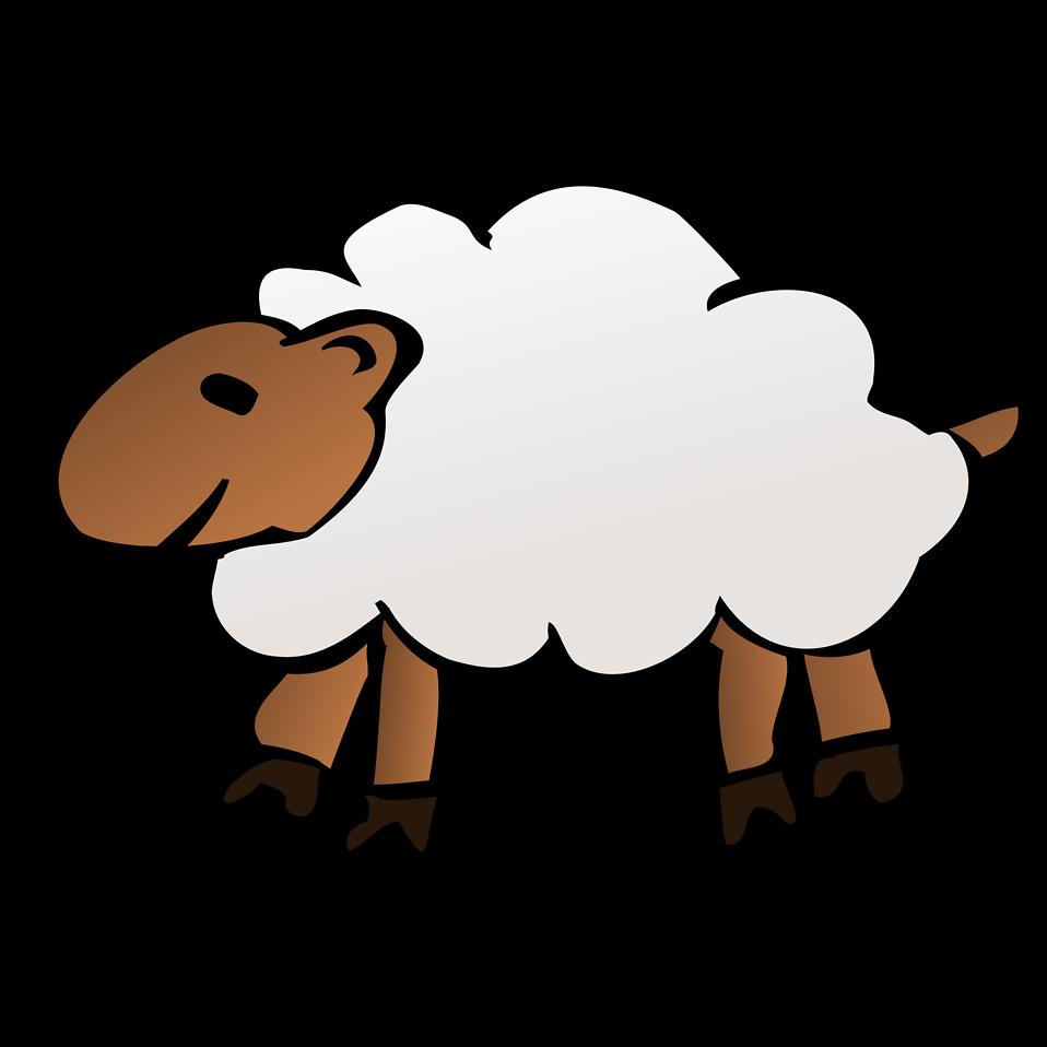 Sheep clipart transparent background #9
