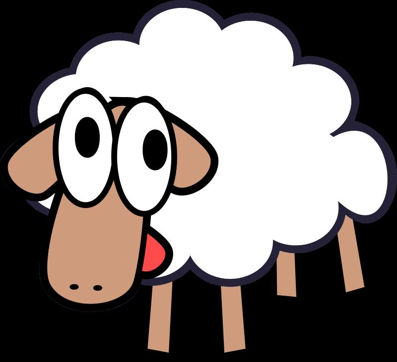 Sheep clipart transparent background #6
