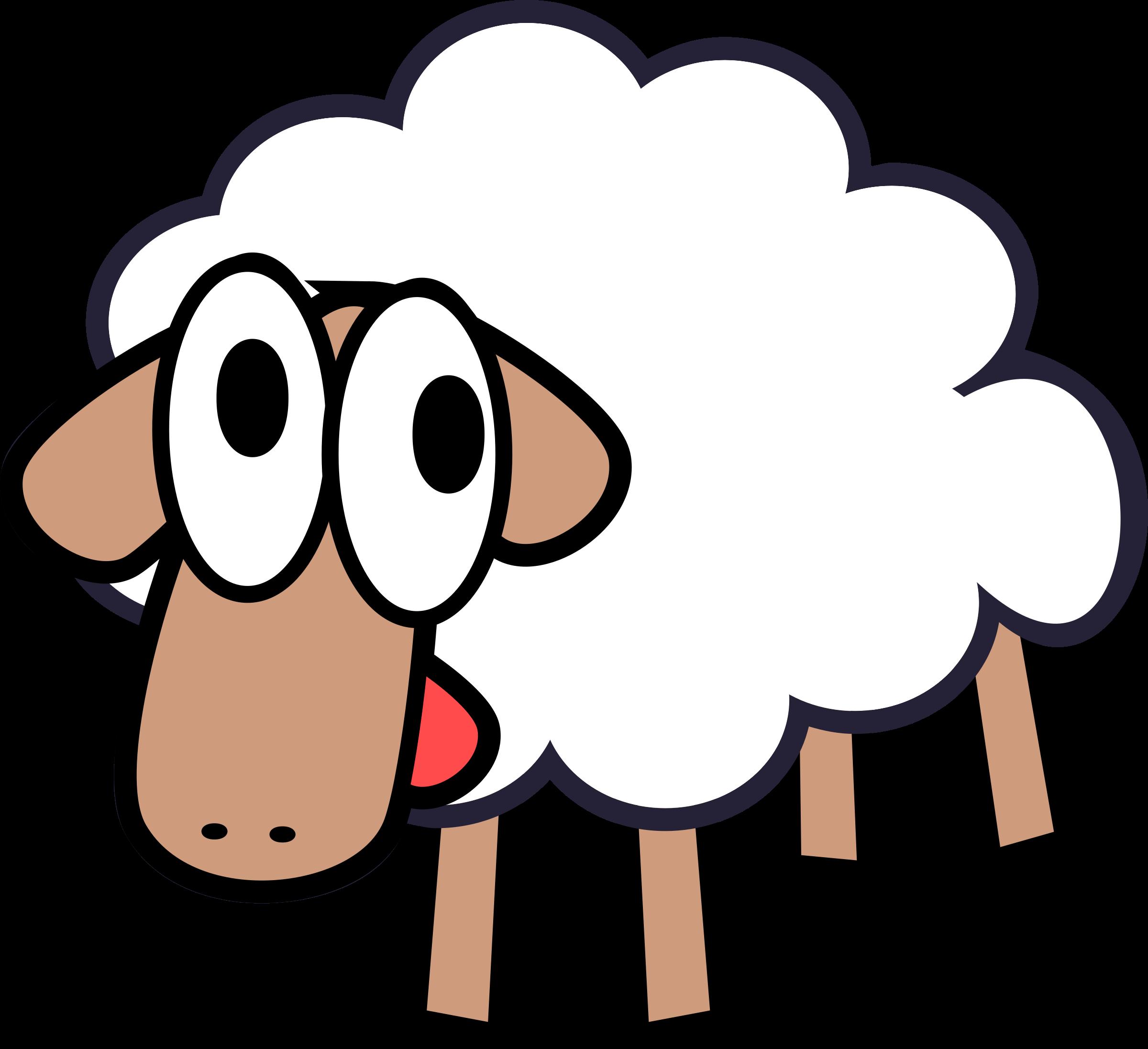 Sheep clipart transparent background #13
