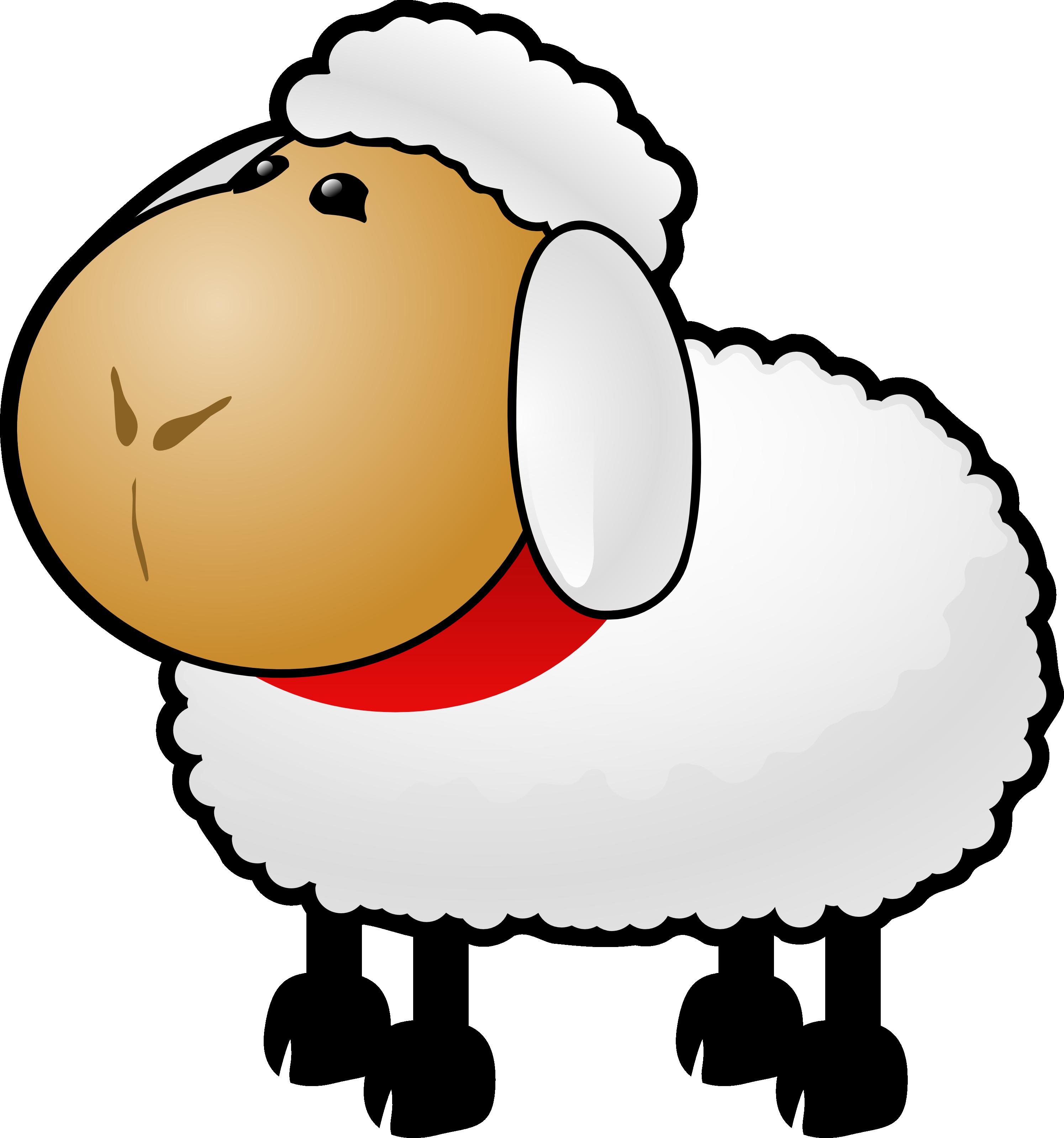 Sheep clipart transparent background #10