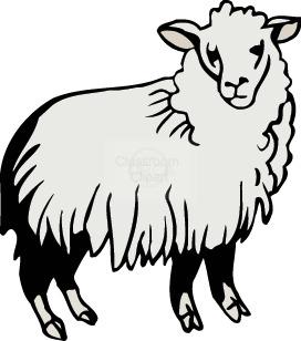 Sheep clipart transparent background #8
