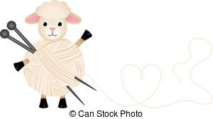 Sheep clipart yarn #3