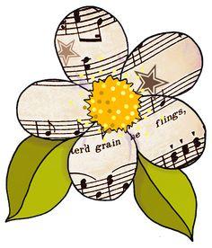 Sheet Music clipart cartoon & Vintage artbyjean Music Sheet