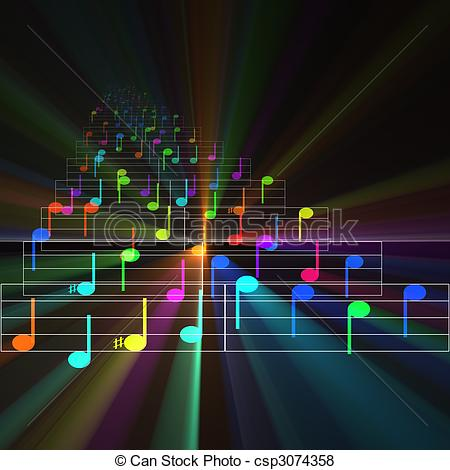 Sheet Music clipart colorful music #11