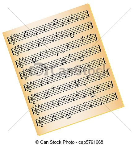 Sheet Music clipart colorful music #6