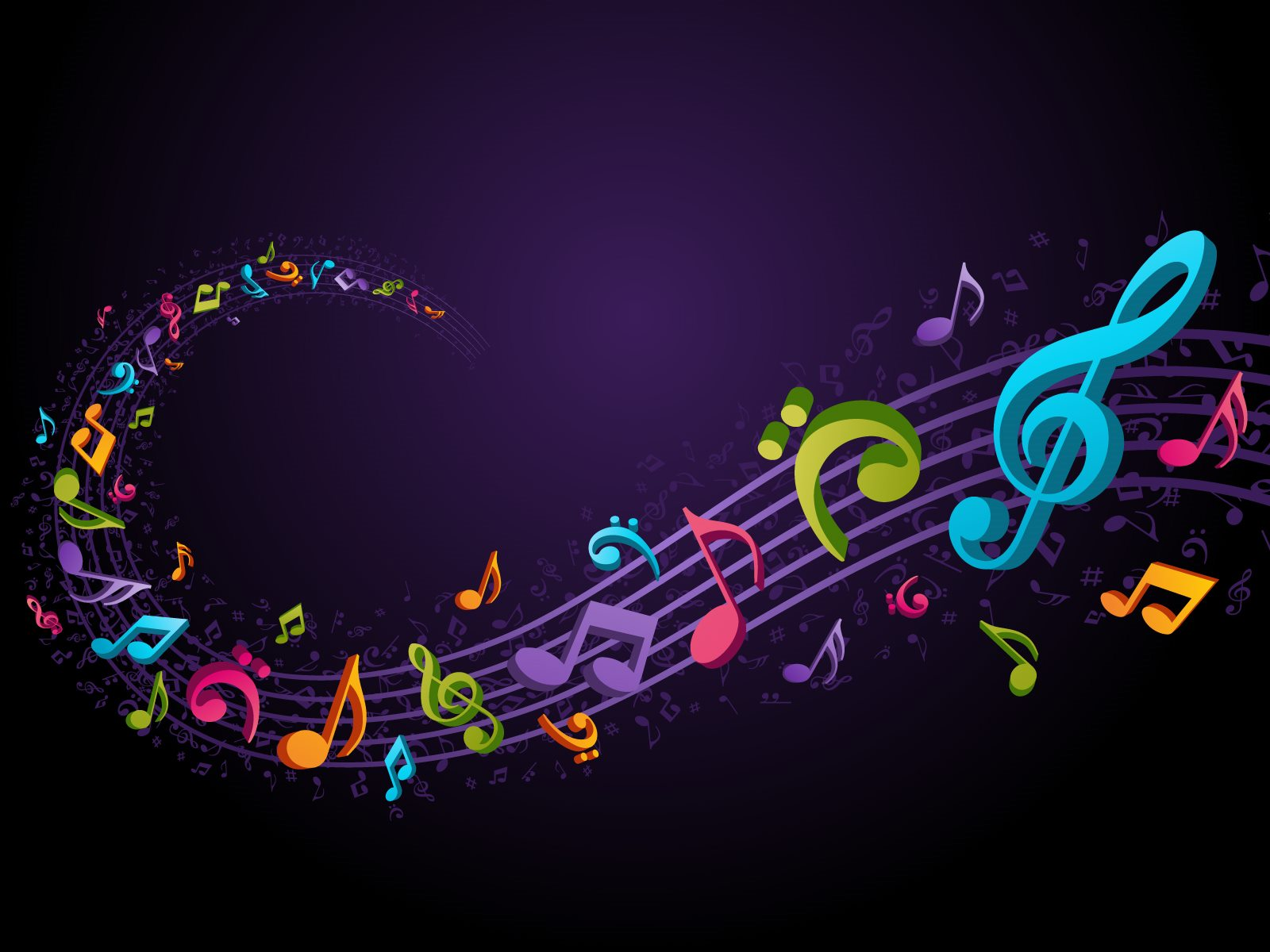 Sheet Music clipart colorful music #10