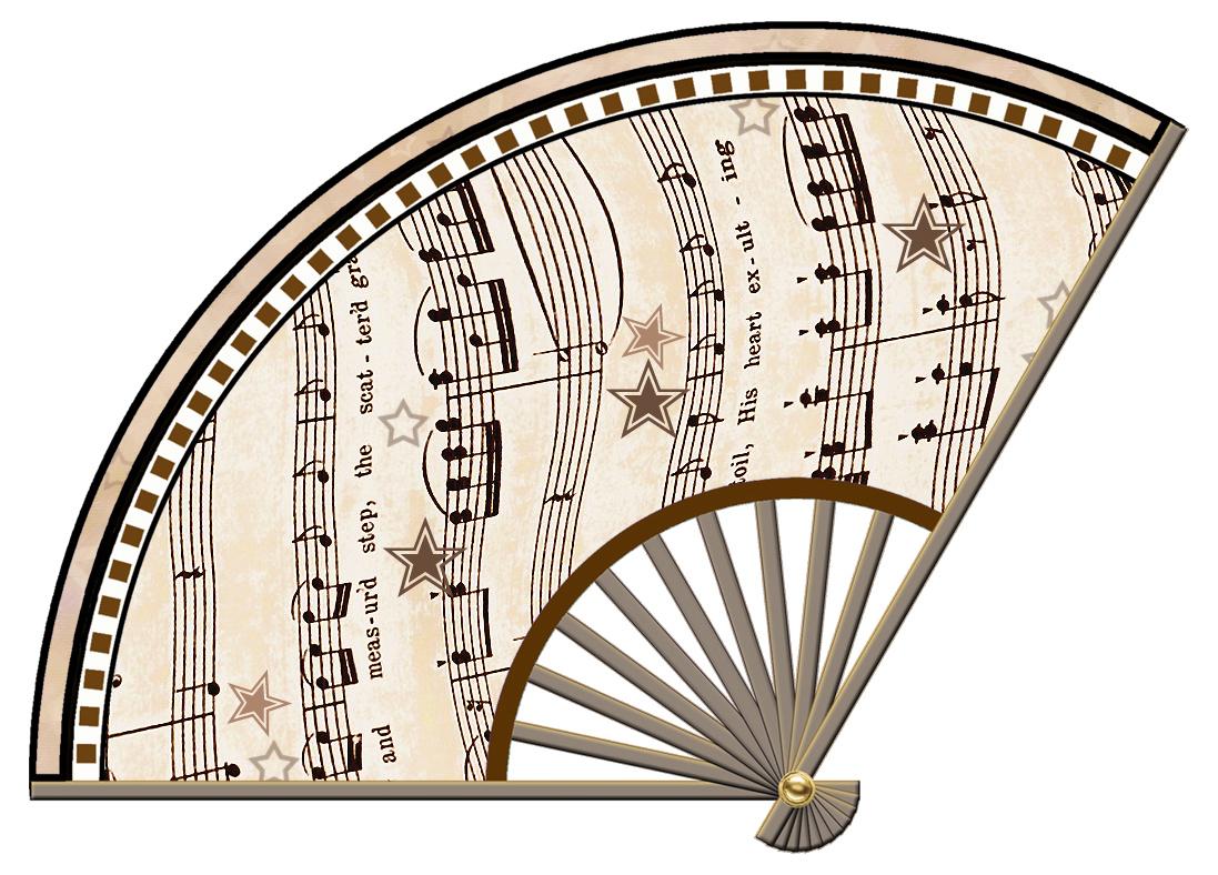 Sheet Music clipart decorative Set Sheet Music Decoupage 03