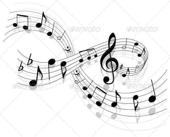 Sheet Music clipart decorative Vector Background program Background Music