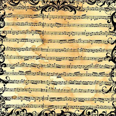 Sheet Music clipart folk music #10