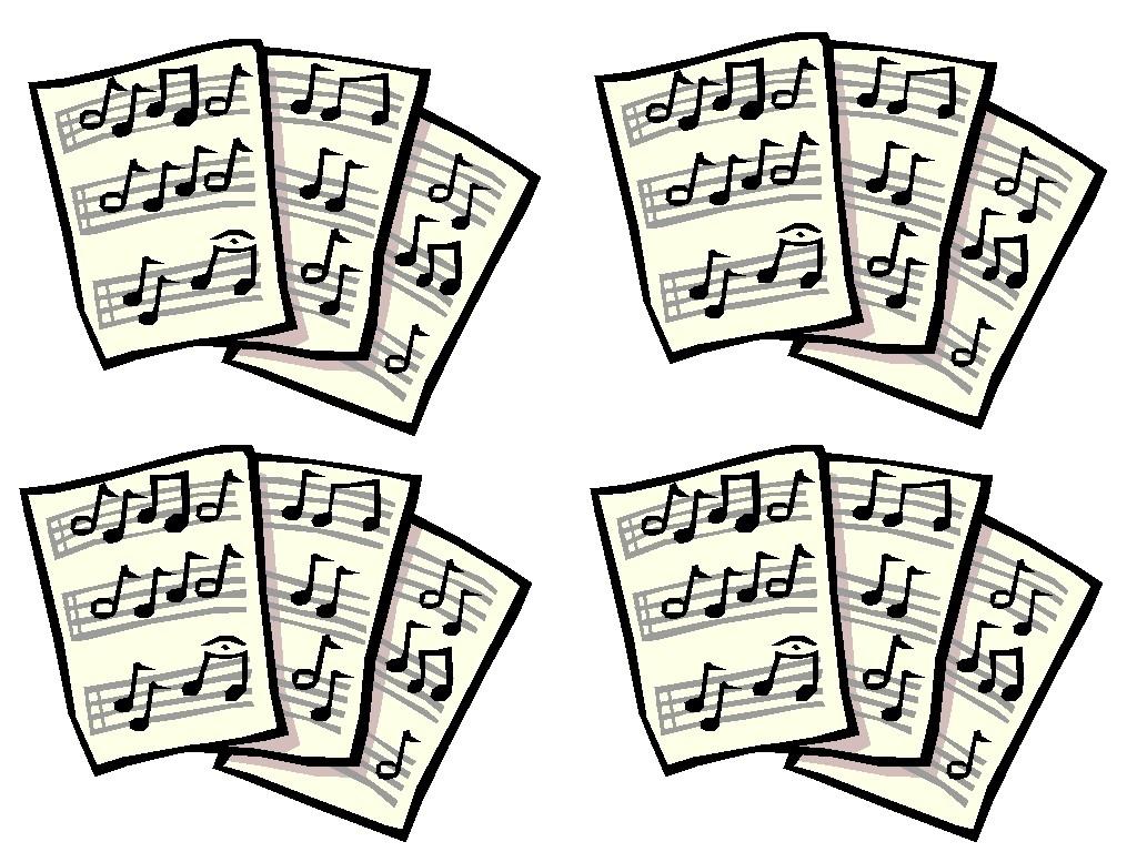 Sheet Music clipart folk music #11