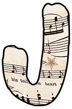 Sheet Music clipart music class ArtbyJean Alphabet Set Sheet Music: