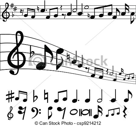 Sheet Music clipart music logo Csp9214212 and notes Music symbols