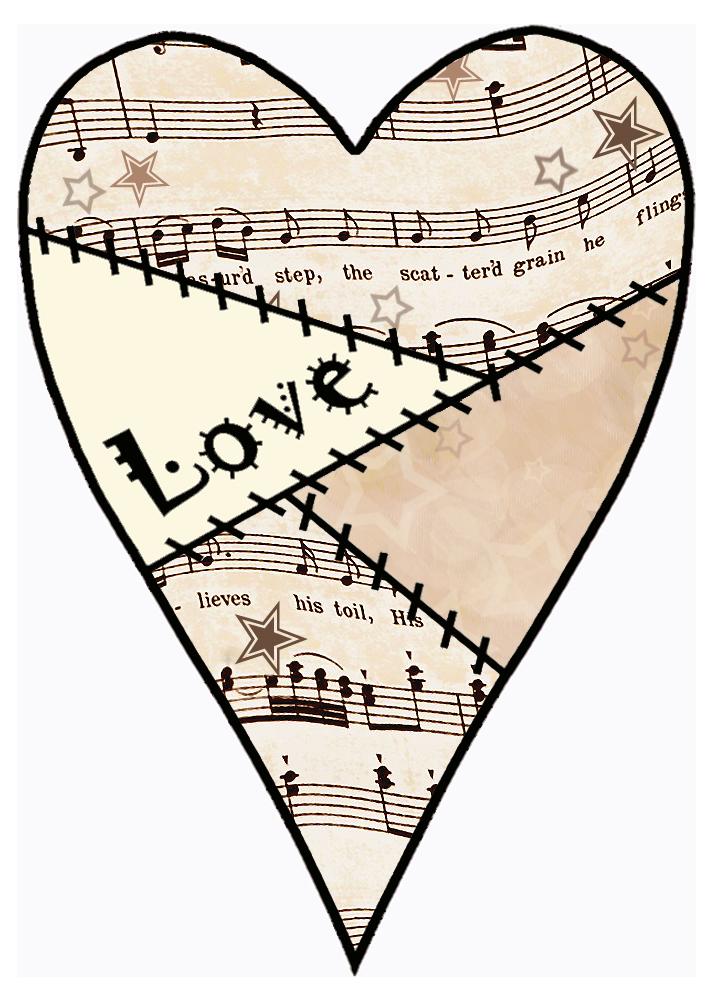 Musical clipart music score Decoupage Vintage artbyjean blog