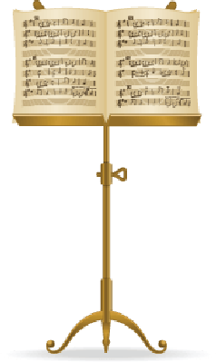 Sheet Music clipart music stand #3