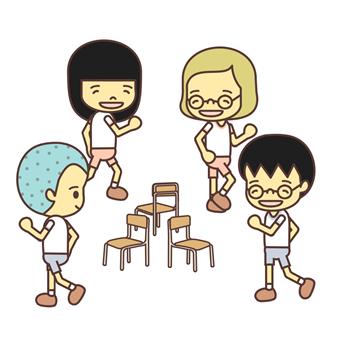 Sheet Music clipart musical chair Musical Chairs Children's Japanese