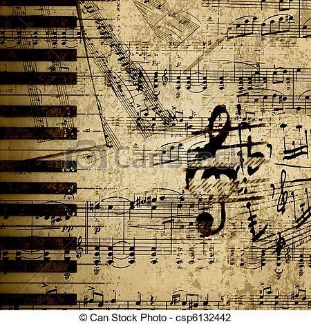 Sheet Music clipart old Best vector Stock Music 116