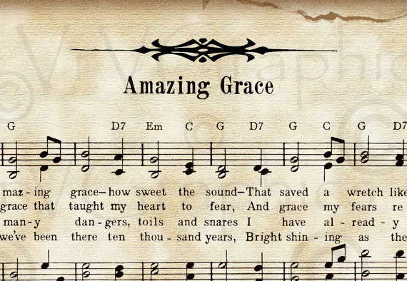 Sheet Music clipart old Grace Hymn Roses $3 Amazing