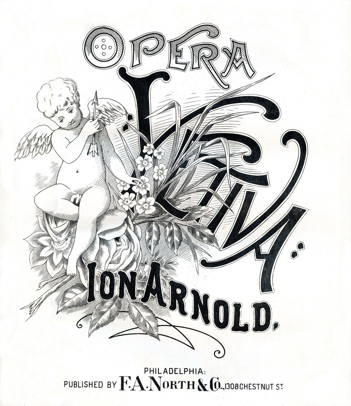 Sheet Music clipart old I Opera Sheet sheet of