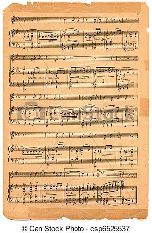 Sheet Music clipart old Music sheet clipart (90+) music