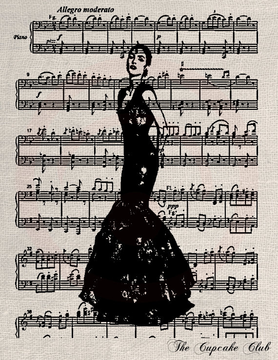 Sheet Music clipart opera Vintage Designs Digital Carmen Designs