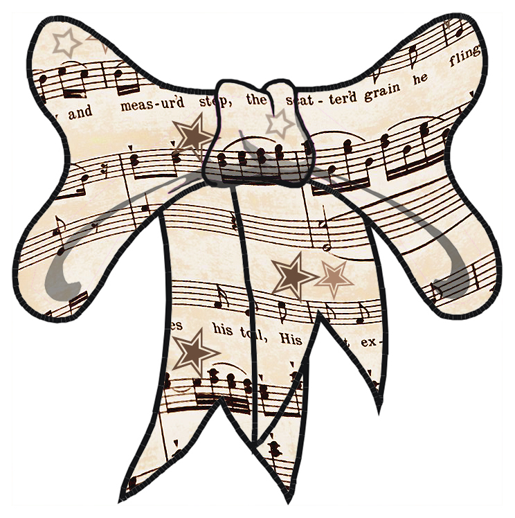 Musical clipart music score Free ArtbyJean Free Clip Download