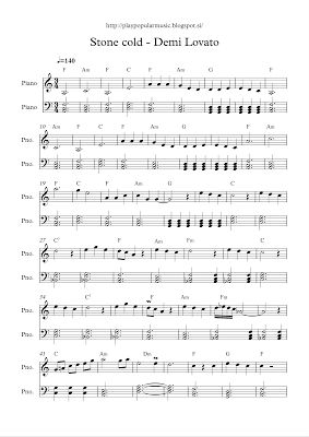 Sheet Music clipart singing group Popular cold free Lovato sheet
