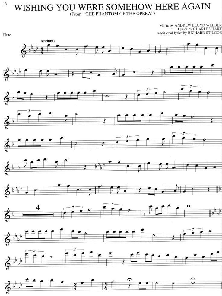 Sheet Music clipart sound system I Pinterest on music flute