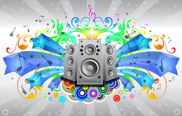 Sheet Music clipart sound system Free vector  vector) 499